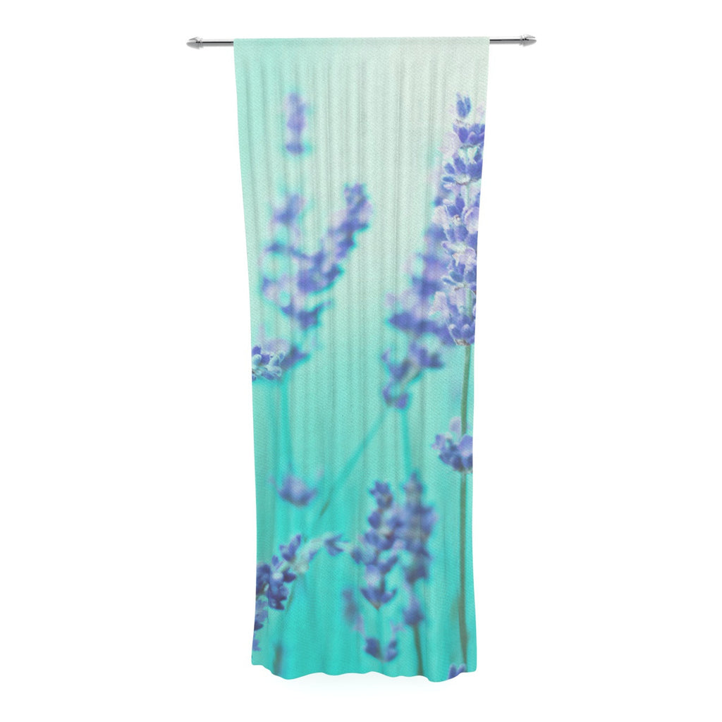 "Monika Strigel ""Mint Lavender"" Teal Purple Decorative Sheer Curtain - KESS InHouse  - 1"