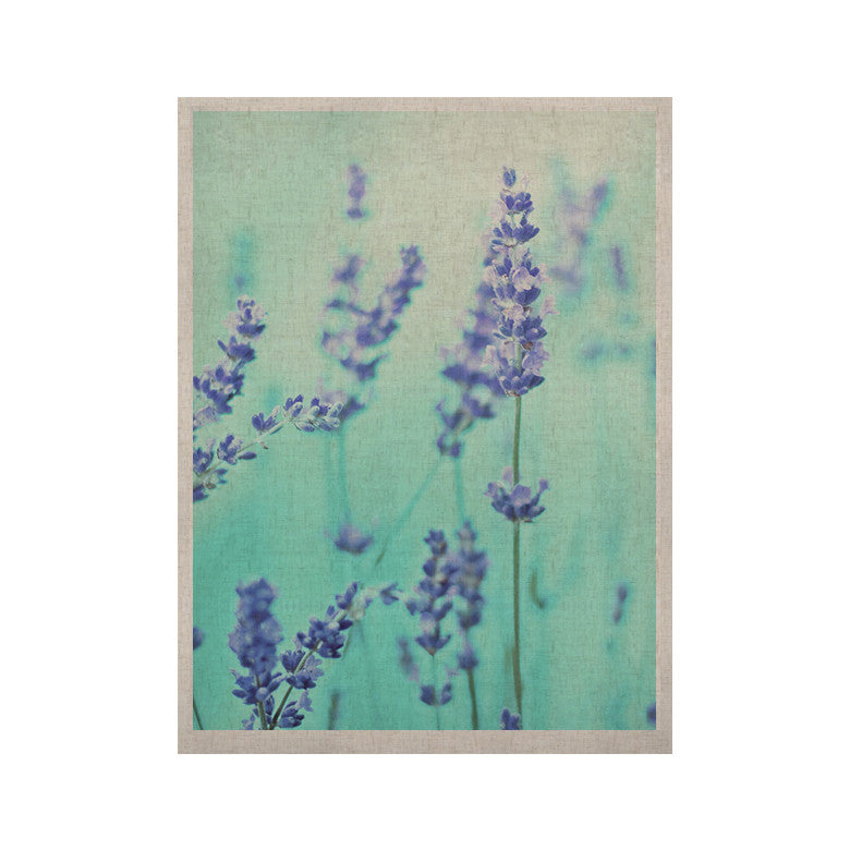 "Monika Strigel ""Mint Lavender"" Teal Purple KESS Naturals Canvas (Frame not Included) - KESS InHouse  - 1"