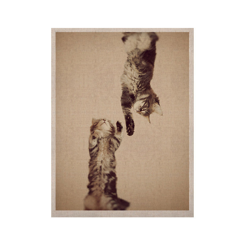 "Monika Strigel ""Upside Down"" Brown Cats KESS Naturals Canvas (Frame not Included) - KESS InHouse  - 1"