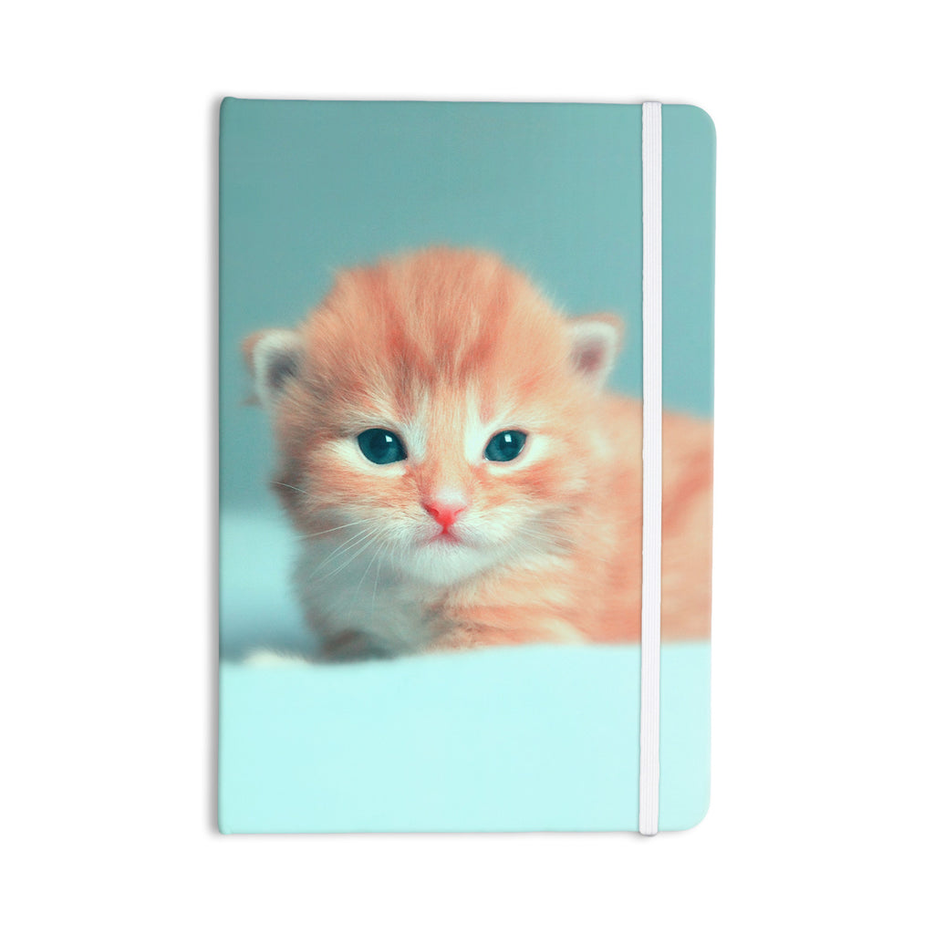 "Monika Strigel ""Dreamcat"" Orange Blue Everything Notebook - KESS InHouse  - 1"