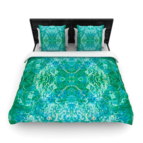 "Nikposium ""Eden"" Teal Green Woven Duvet Cover - Outlet Item"