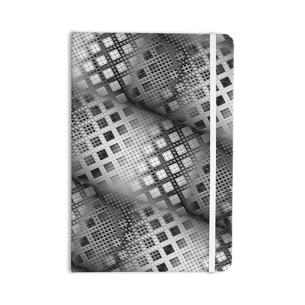 "Michael Sussna ""Array Decay"" Checkered Gray Everything Notebook - KESS InHouse  - 1"