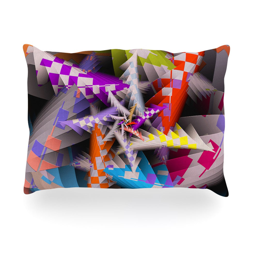 "Michael Sussna ""Sticker Thicket"" Multicolor Oblong Pillow - KESS InHouse"