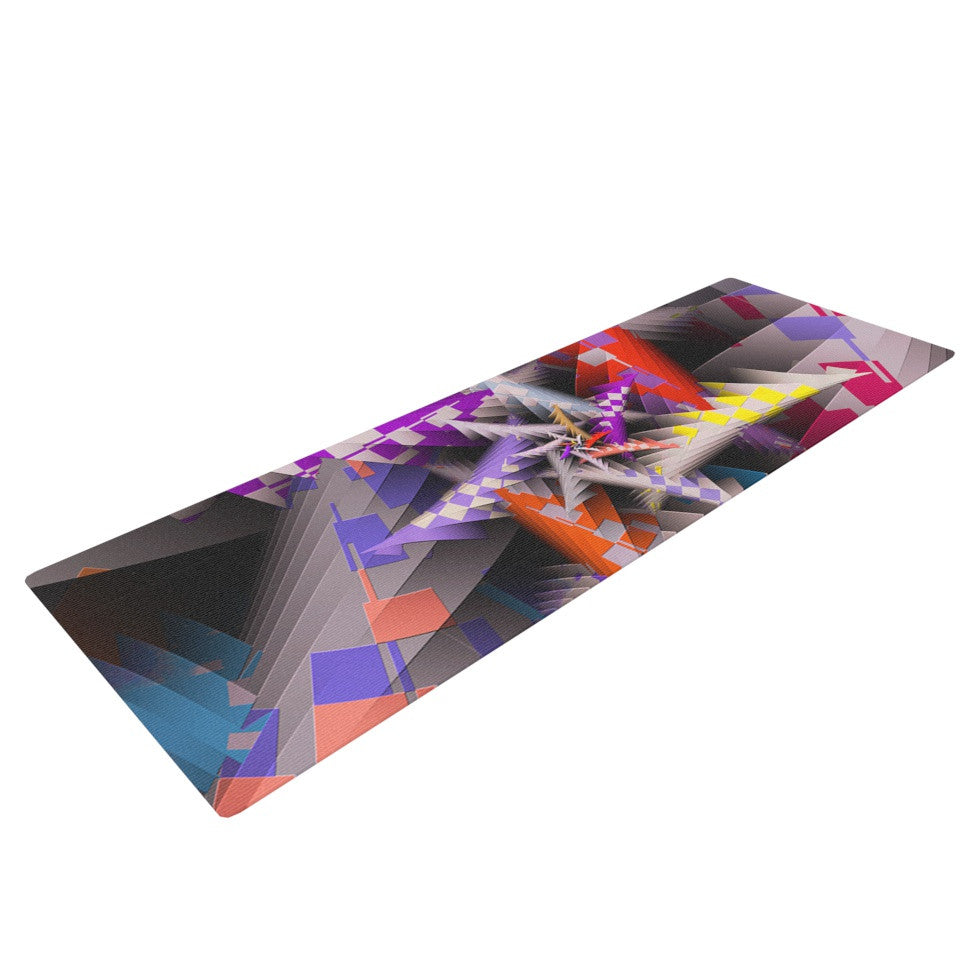 "Michael Sussna ""Sticker Thicket"" Multicolor Yoga Mat - KESS InHouse  - 1"