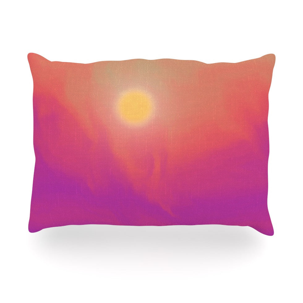 "Michael Sussna ""Yosemite Dawn"" Pink Orange Oblong Pillow - KESS InHouse"
