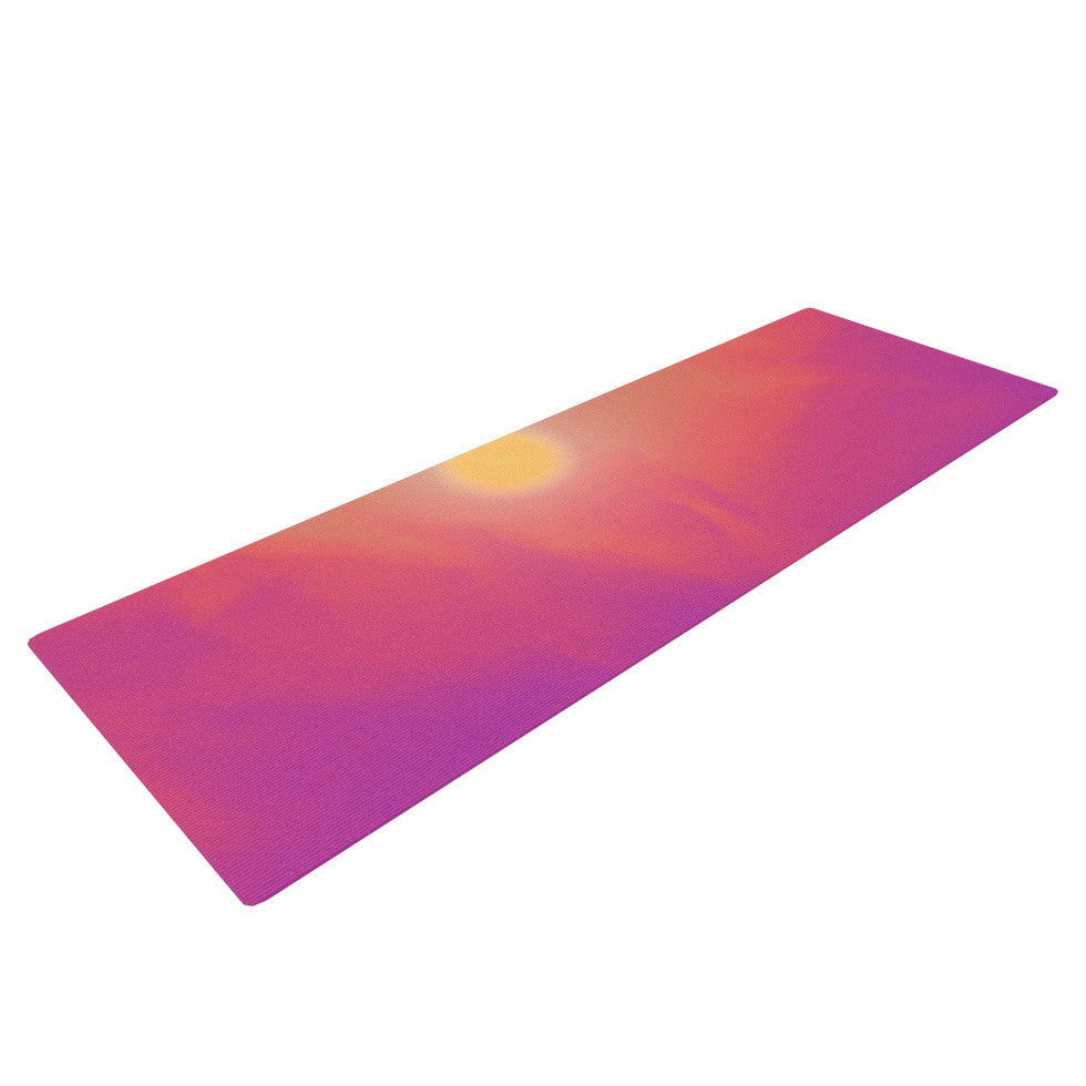 "Michael Sussna ""Yosemite Dawn"" Pink Orange Yoga Mat - KESS InHouse  - 1"