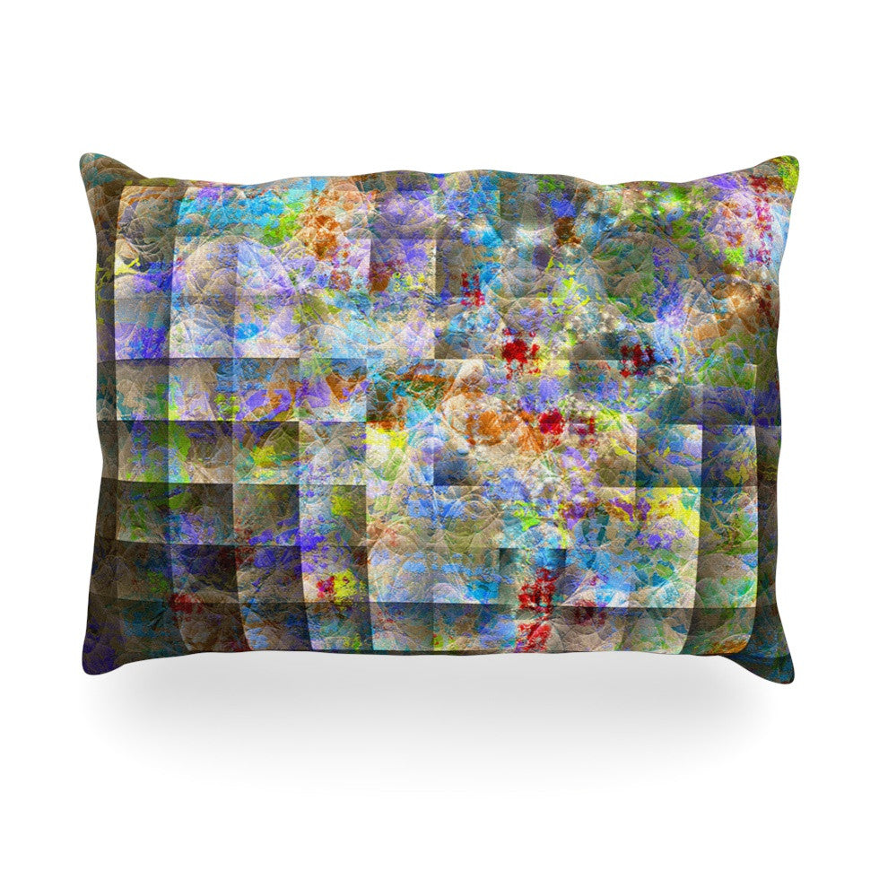 "Michael Sussna ""Yggdrasil"" Rainbow Abstract Oblong Pillow - KESS InHouse"
