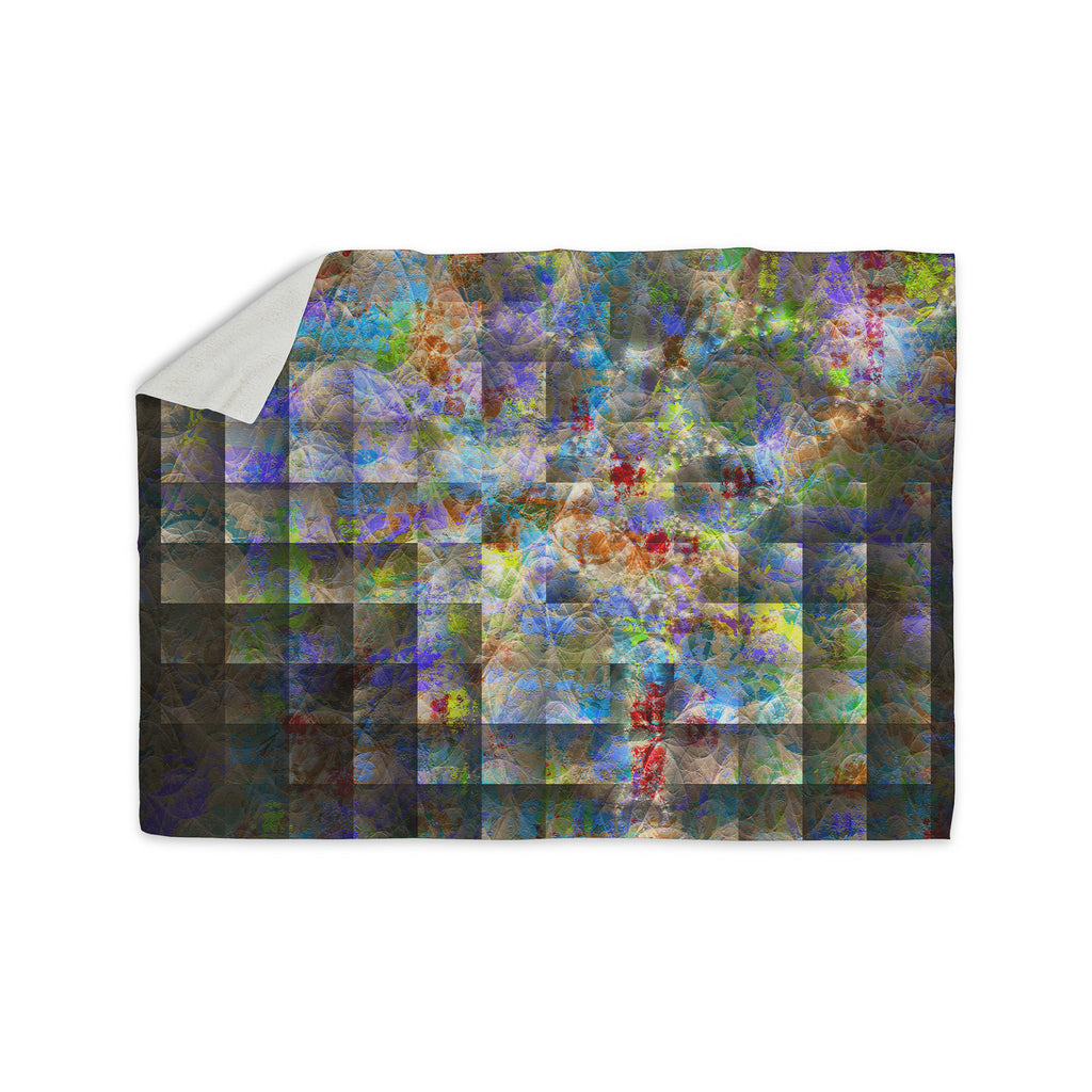 "Michael Sussna ""Yggdrasil"" Rainbow Abstract Sherpa Blanket - KESS InHouse  - 1"