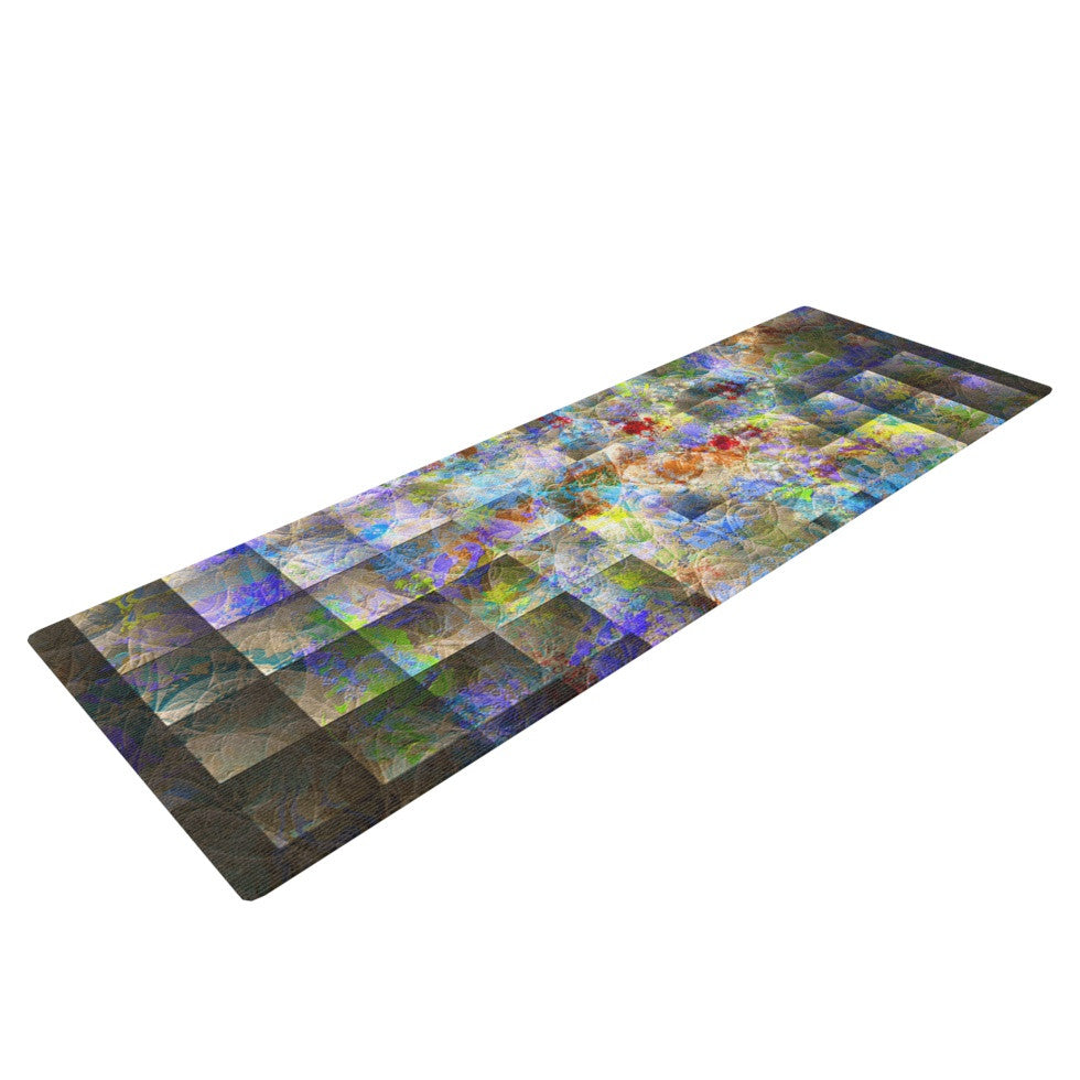 "Michael Sussna ""Yggdrasil"" Rainbow Abstract Yoga Mat - KESS InHouse  - 1"