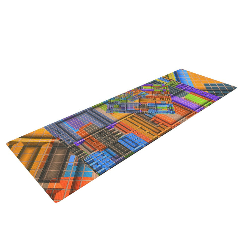 "Michael Sussna ""Tile Rep"" Abstract Yoga Mat - KESS InHouse  - 1"