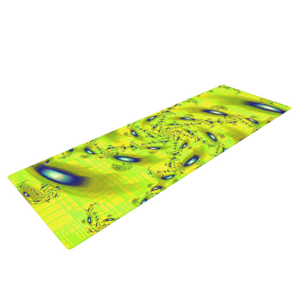 "Michael Sussna ""Synchronized Swimming"" Lime Green Yoga Mat - KESS InHouse  - 1"
