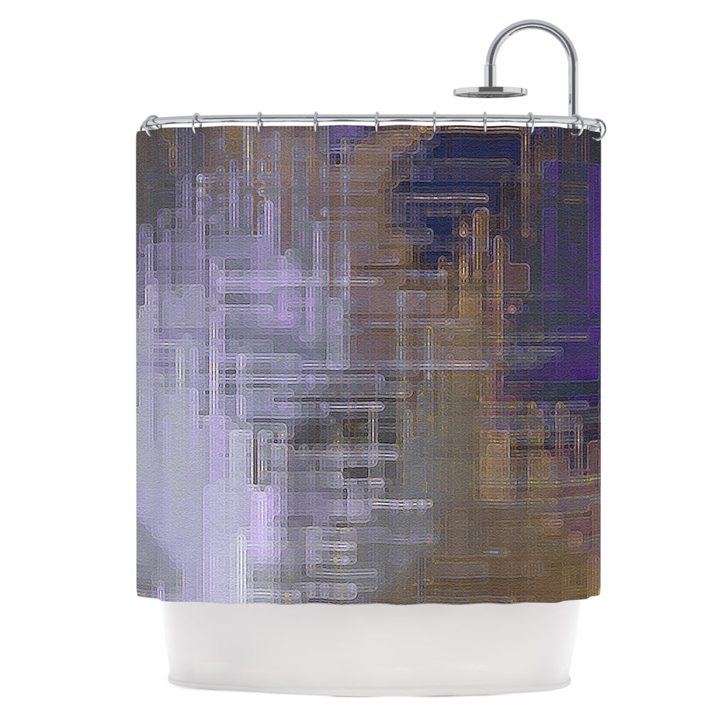 Michael Sussna Reach For The Sky Purple Brown Shower Curtain
