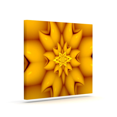 "Michael Sussna ""Citrus Star"" Orange Yellow Canvas Art - KESS InHouse  - 1"