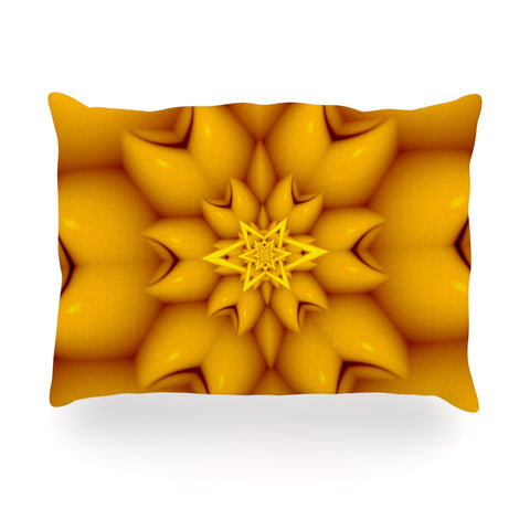 "Michael Sussna ""Citrus Star"" Orange Yellow Oblong Pillow - KESS InHouse"