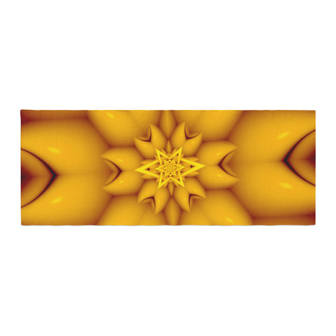 "Michael Sussna ""Citrus Star"" Orange Yellow Bed Runner - KESS InHouse"