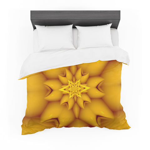 "Michael Sussna ""Citrus Star"" Orange Yellow Featherweight Duvet Cover"