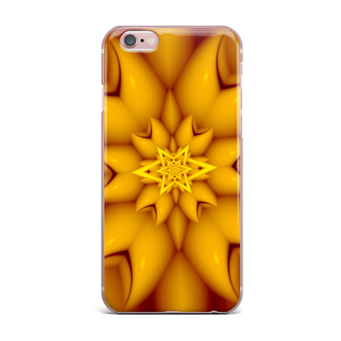 "Michael Sussna ""Citrus Star"" Orange Yellow iPhone Case - KESS InHouse"