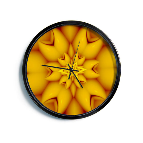 "Michael Sussna ""Citrus Star"" Orange Yellow Modern Wall Clock"