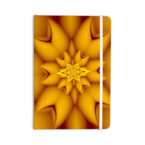 "Michael Sussna ""Citrus Star"" Orange Yellow Everything Notebook - KESS InHouse  - 1"
