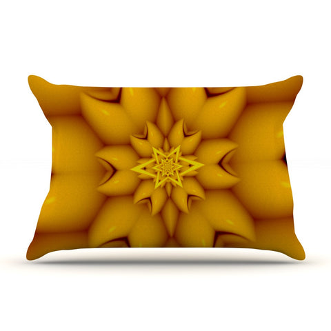 "Michael Sussna ""Citrus Star"" Orange Yellow Pillow Sham - KESS InHouse"