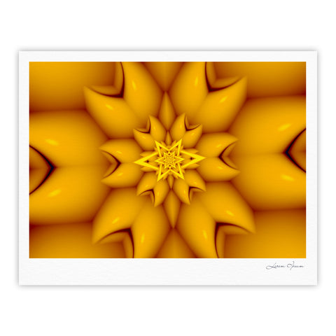 "Michael Sussna ""Citrus Star"" Orange Yellow Fine Art Gallery Print - KESS InHouse"