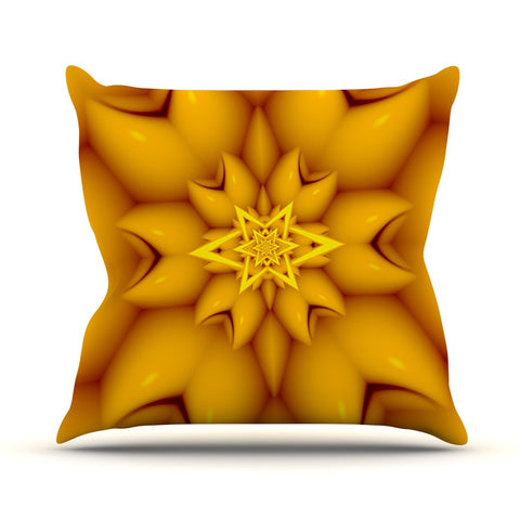 "Michael Sussna ""Citrus Star"" Orange Yellow Outdoor Throw Pillow - KESS InHouse  - 1"