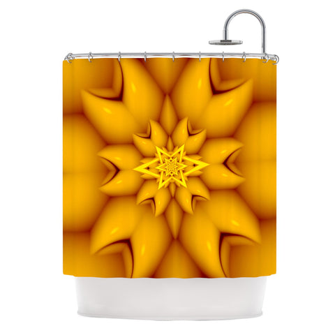 "Michael Sussna ""Citrus Star"" Orange Yellow Shower Curtain - KESS InHouse"