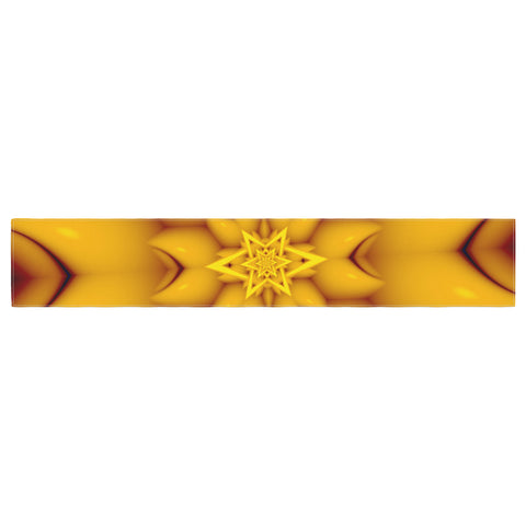 "Michael Sussna ""Citrus Star"" Orange Yellow Table Runner - KESS InHouse  - 1"