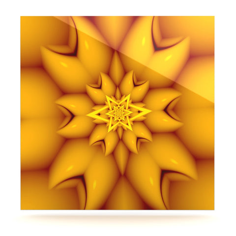 "Michael Sussna ""Citrus Star"" Orange Yellow Luxe Square Panel - KESS InHouse  - 1"