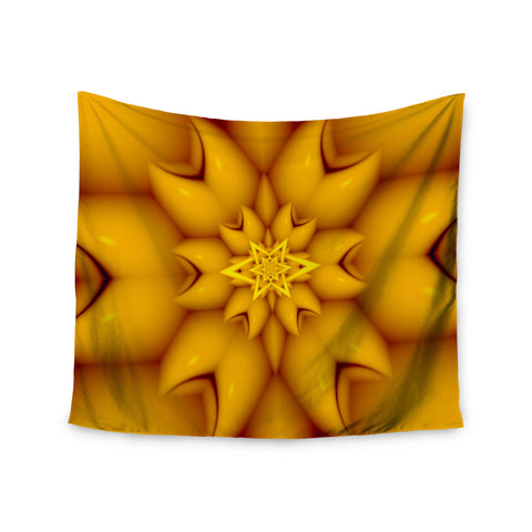 "Michael Sussna ""Citrus Star"" Orange Yellow Wall Tapestry - KESS InHouse  - 1"