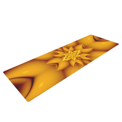 "Michael Sussna ""Citrus Star"" Orange Yellow Yoga Mat - KESS InHouse  - 1"