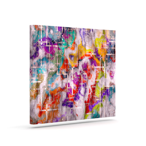 "Michael Sussna ""Quantum Foam"" Rainbow Geometric Canvas Art - KESS InHouse  - 1"