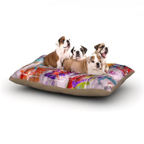 "Michael Sussna ""Quantum Foam"" Rainbow Geometric Dog Bed - KESS InHouse  - 1"