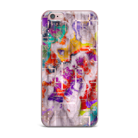 "Michael Sussna ""Quantum Foam"" Rainbow Geometric iPhone Case - KESS InHouse"