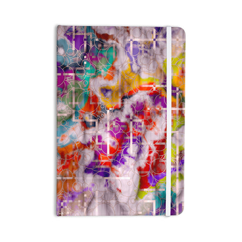 "Michael Sussna ""Quantum Foam"" Rainbow Geometric Everything Notebook - KESS InHouse  - 1"