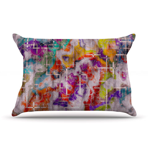 "Michael Sussna ""Quantum Foam"" Rainbow Geometric Pillow Sham - KESS InHouse"