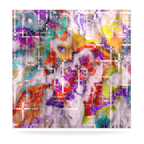 "Michael Sussna ""Quantum Foam"" Rainbow Geometric Luxe Square Panel - KESS InHouse  - 1"