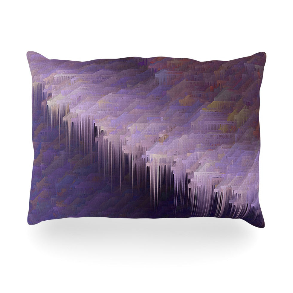 "Michael Sussna ""Malibu"" Purple Oblong Pillow - KESS InHouse"