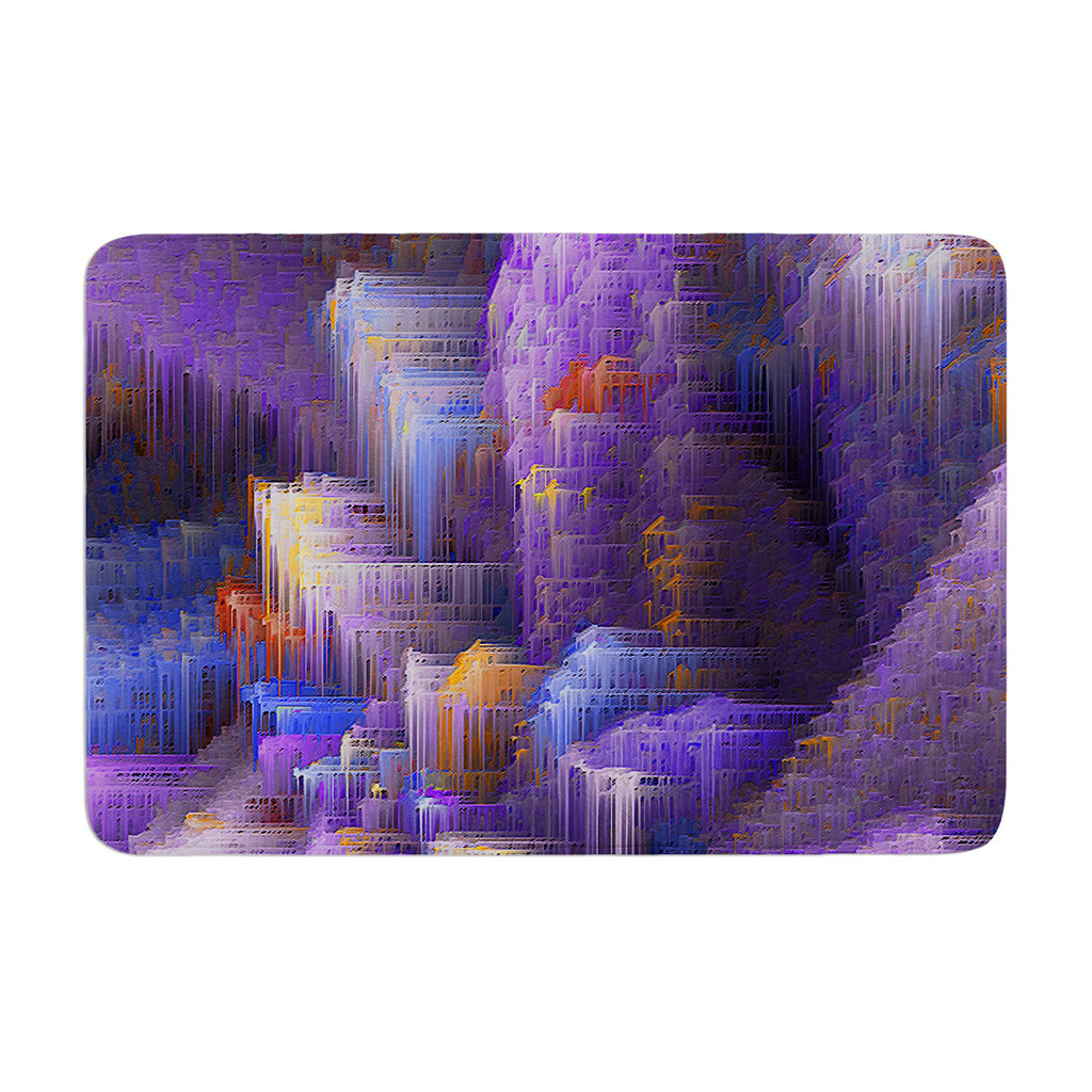 "Michael Sussna ""Purple Mountain Majesty"" Purple Memory Foam Bath Mat - KESS InHouse"