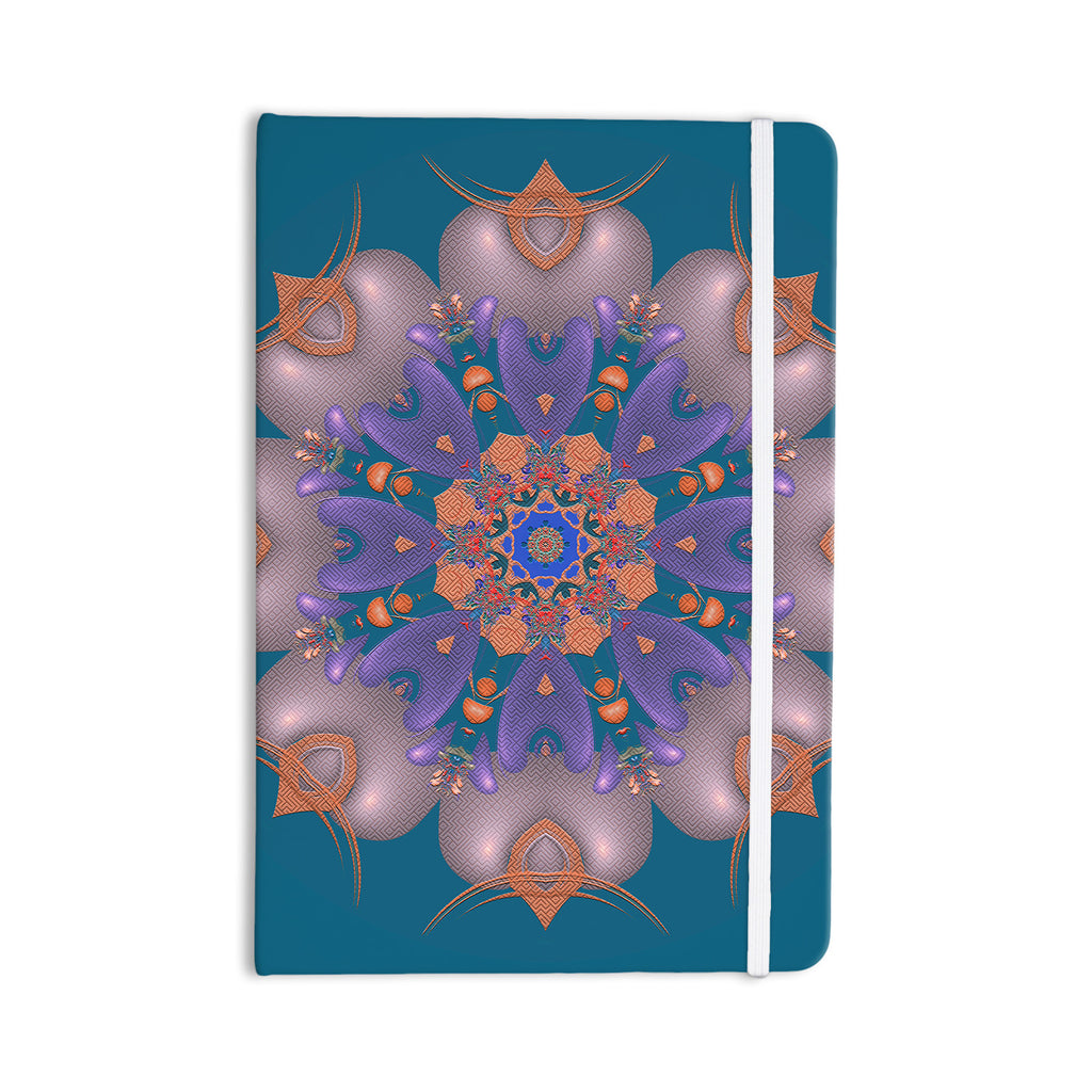 "Michael Sussna ""Whisker Lily"" Orange Teal Everything Notebook - KESS InHouse  - 1"
