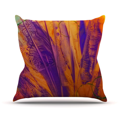 "Malia Shields ""Together"" Purple Orange Throw Pillow - Outlet Item"