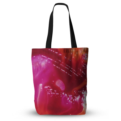 "Malia Shields ""The Color River"" Red Pink Everything Tote Bag - Outlet Item"