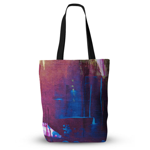 "Malia Shields ""Cityscape Abstracts"" Purple Blue Everything Tote Bag - Outlet Item"