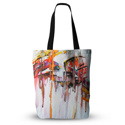 "Malia Shields ""Cascade"" White Multicolor Everything Tote Bag - Outlet Item"