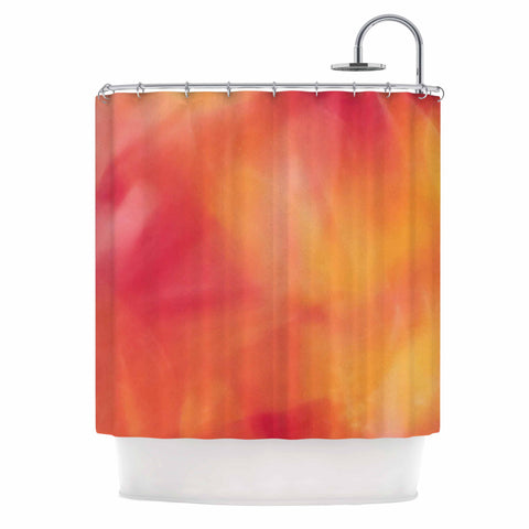"Malia Shields ""Unconditional Love"" Orange Pink Shower Curtain - Outlet Item - KESS InHouse"