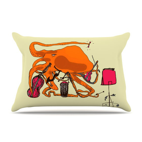 "Marianna Tankelevich ""Playful Octopus"" Pillow Sham - KESS InHouse"