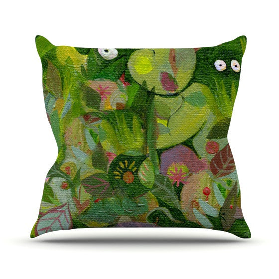 "Marianna Tankelevich ""Jungle"" Outdoor Throw Pillow - KESS InHouse  - 1"