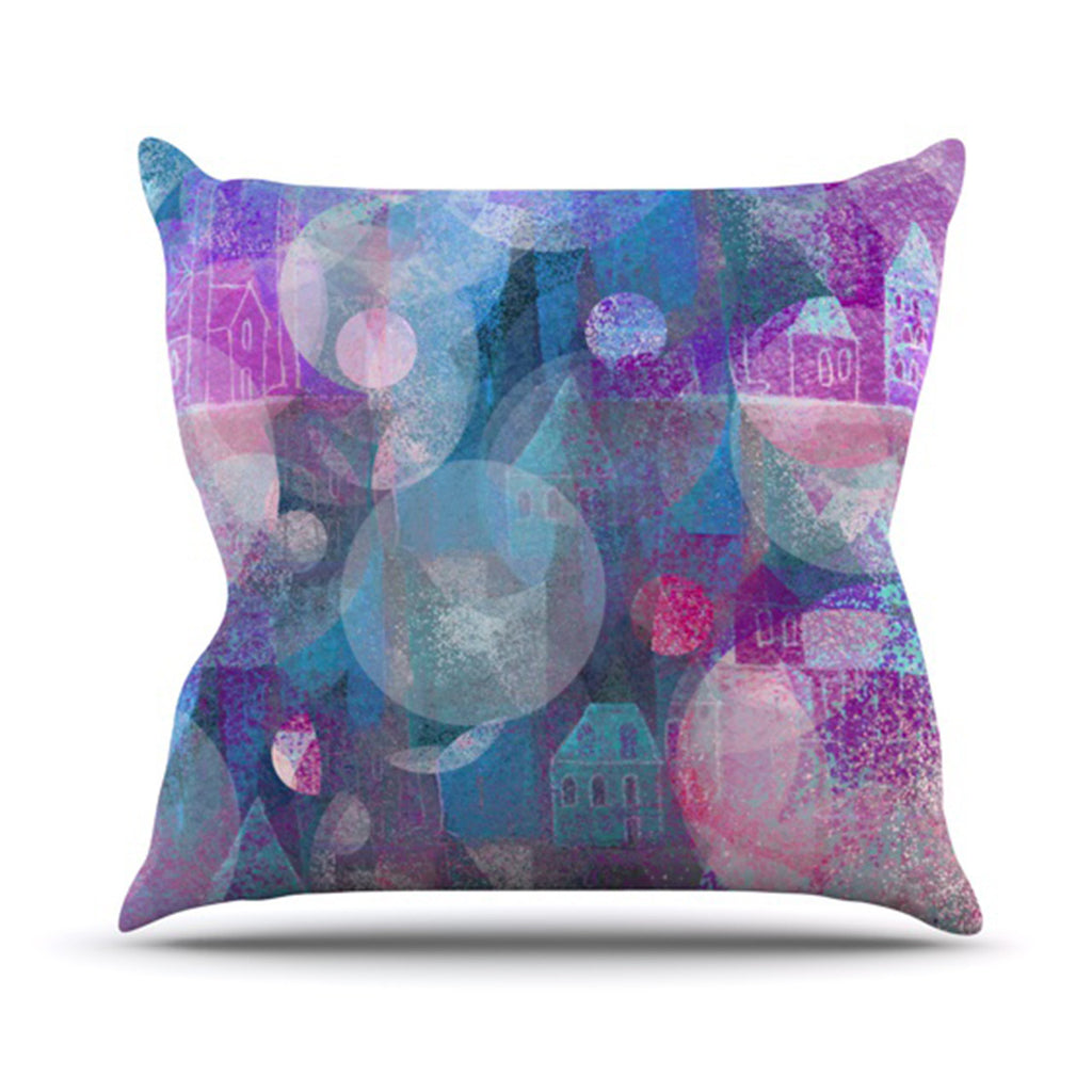 "Marianna Tankelevich ""Dream Houses"" Throw Pillow - KESS InHouse  - 1"