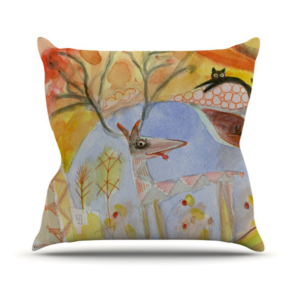 "Marianna Tankelevich ""Promise of Magic"" Outdoor Throw Pillow - KESS InHouse  - 1"