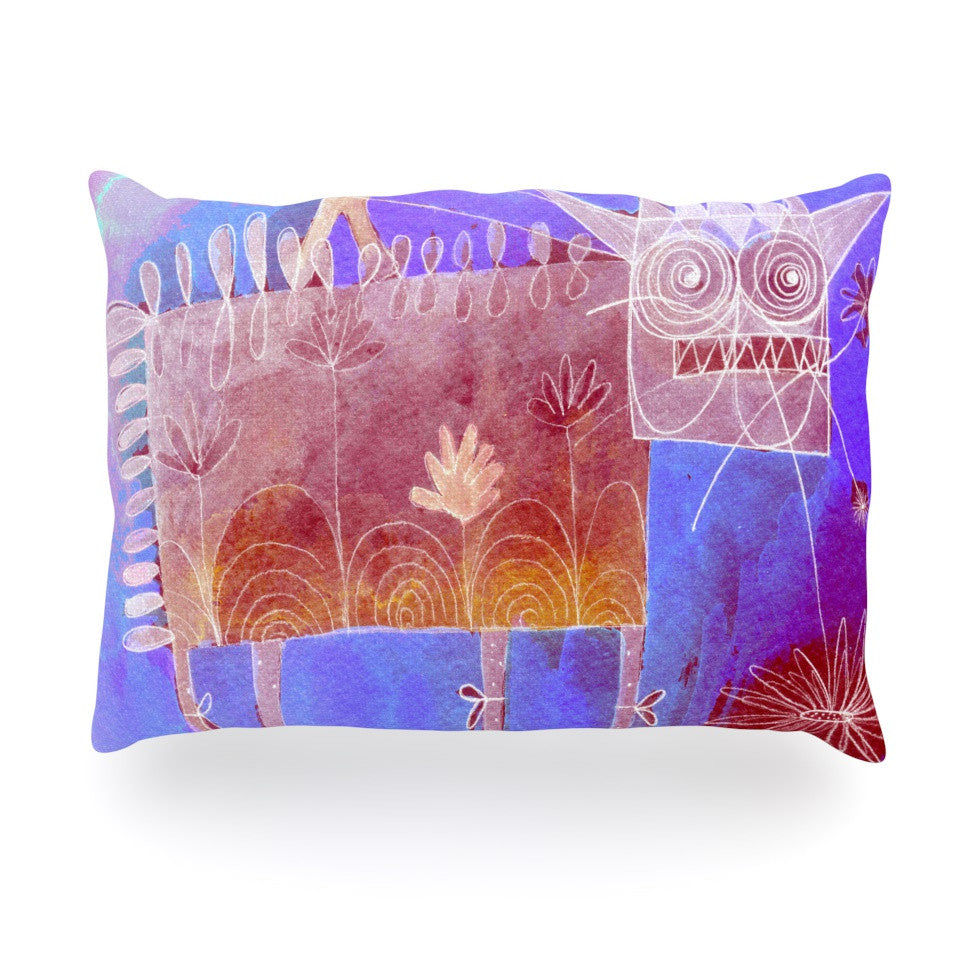 "Marianna Tankelevich ""Scary Song About Love"" Oblong Pillow - KESS InHouse"